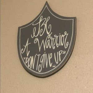 Be a warrior don't give up!